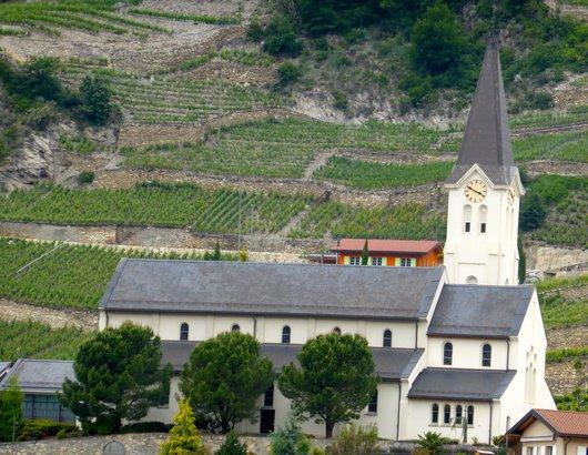 L'église de St-Léonard (Valais)