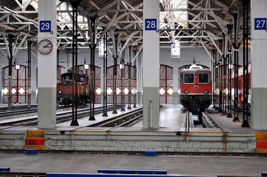 Anciennes halles du dépôt des locomotives de Lausanne