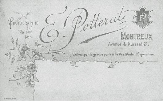 Cartouche d'Edouard Potterat, Montreux