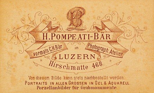 Cartouche de Heinrich Pompeati-Bär, Lucerne