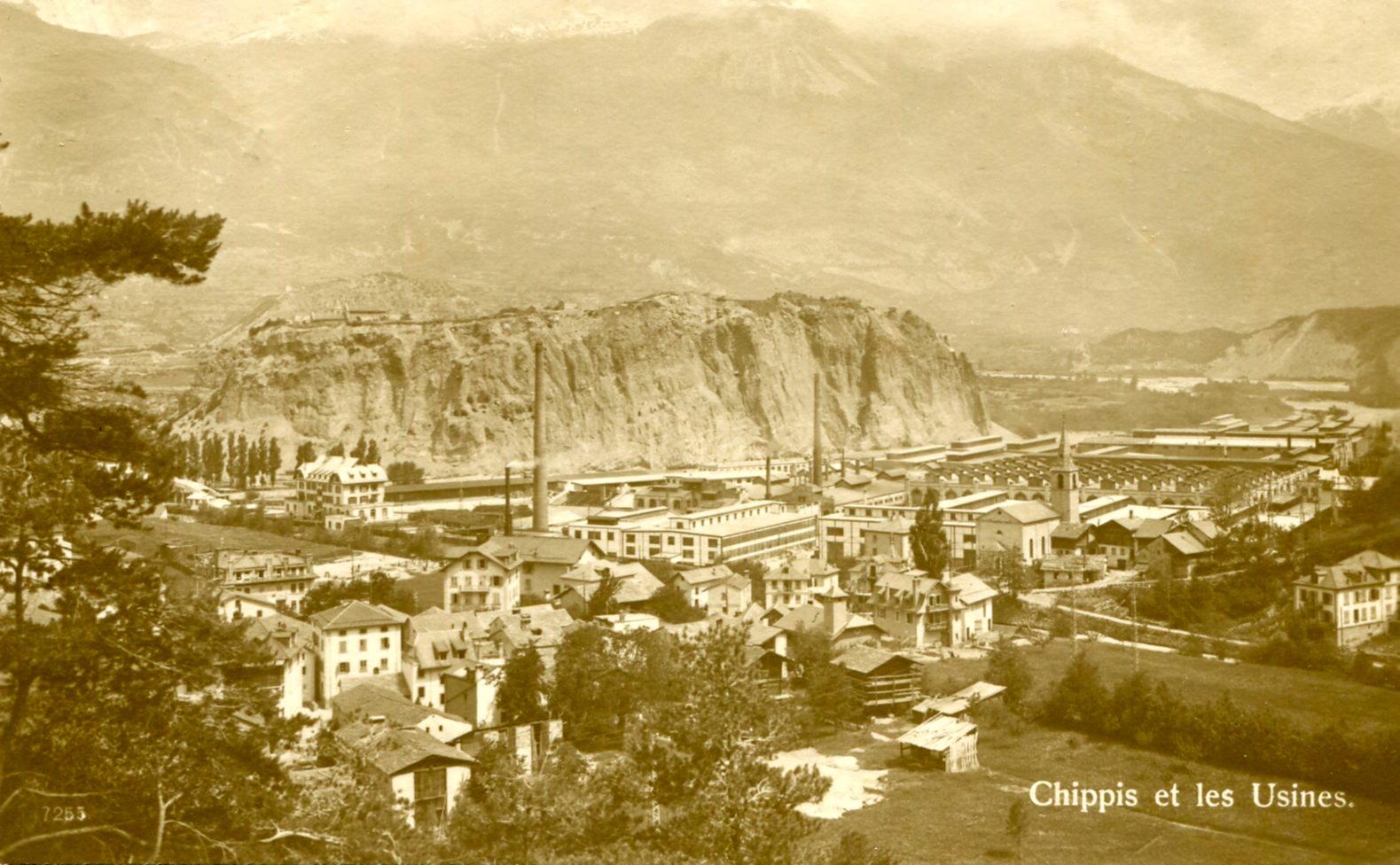 Chippis, le village et l'usine