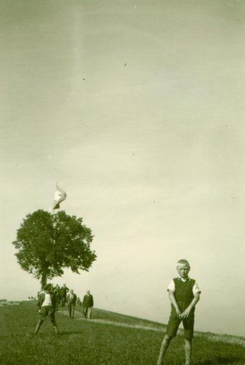 Un premier Août des plus simple, un arbre et un drapeau Suisse