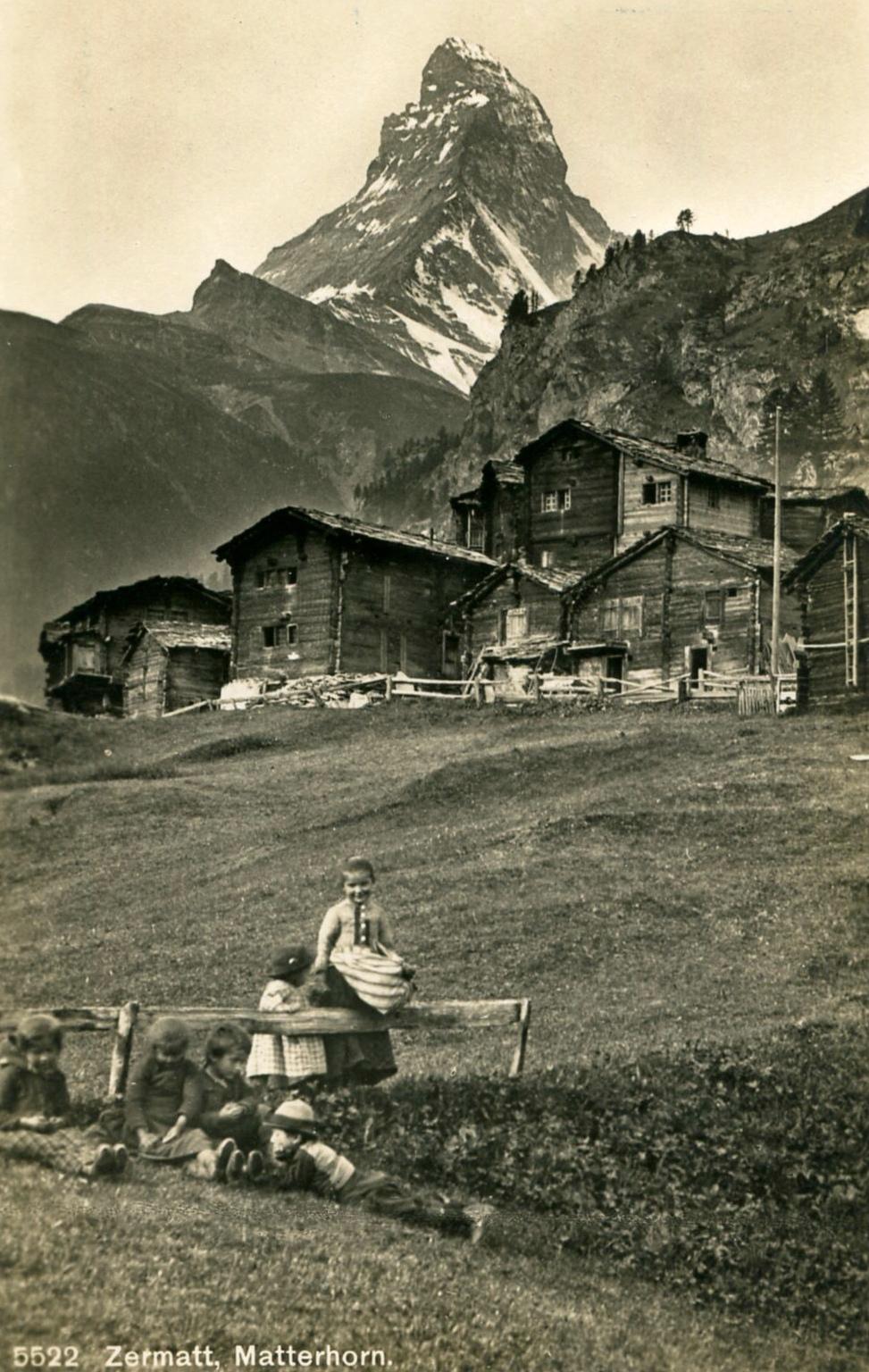 Zermatt, petites paysannes