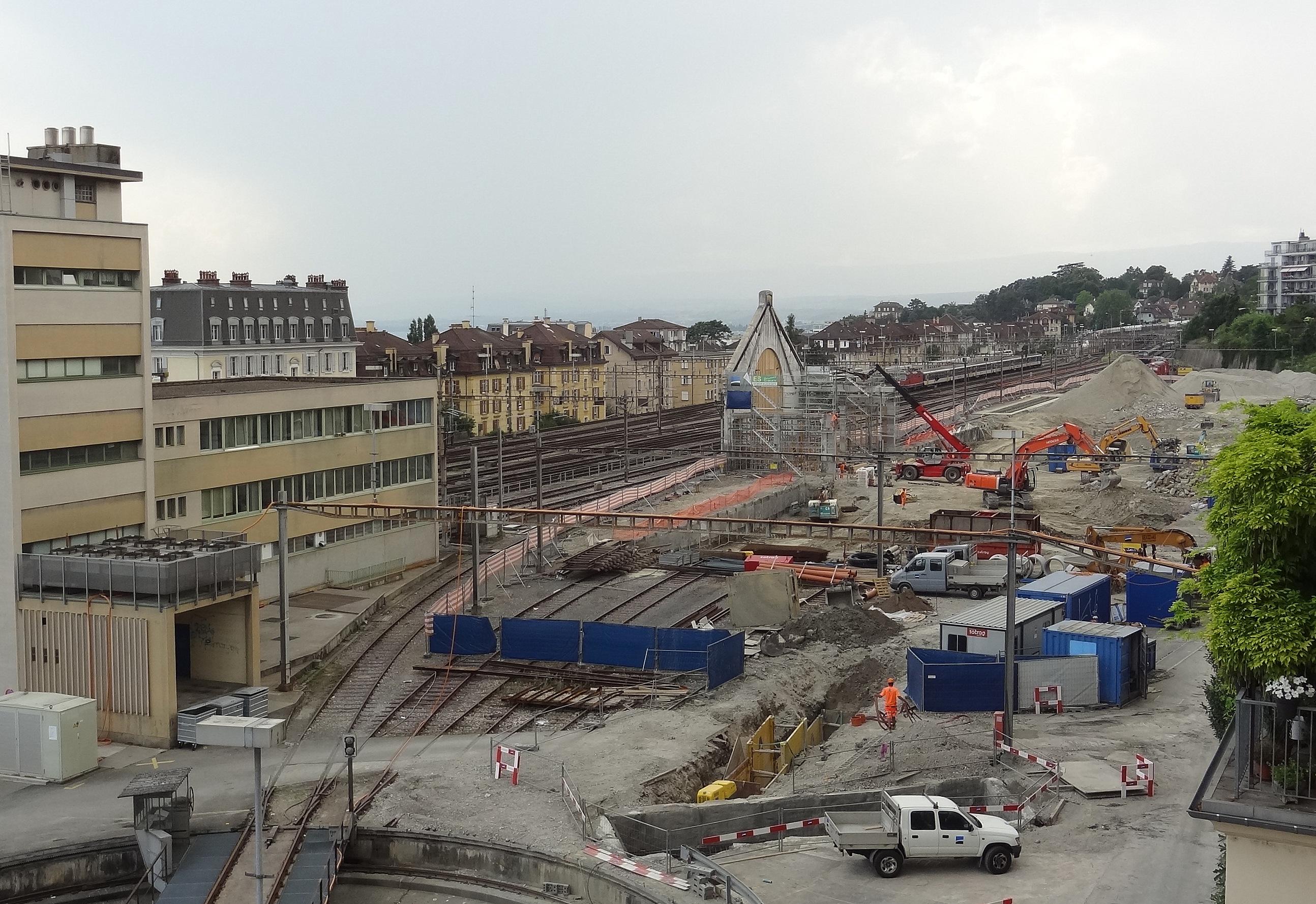 Gare de Lausanne - Chantier «Plateforme 10»