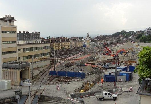 Gare de Lausanne - Chantier «Plateforme10»