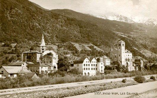Viège, les deux églises