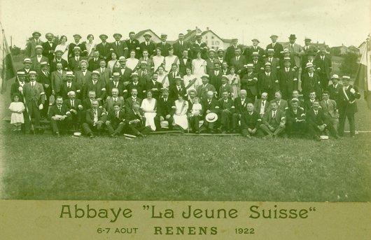 "Abbaye ""La Jeune Suisse ""6-7 Août Renens 1922"