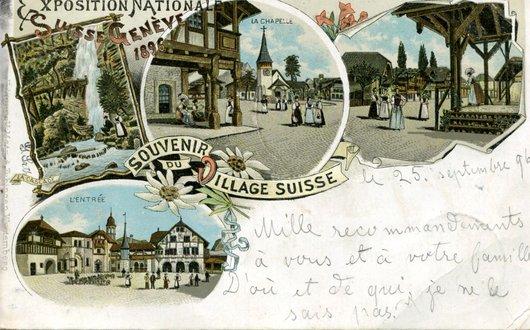 Genève, le village-suisse de 1896