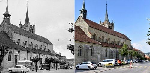L'église de Romont: Hier/aujourd'hui