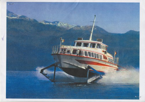 Expo 64, l'Albatros, hydroglisseur navette CGN, ligne Vidy-Evian