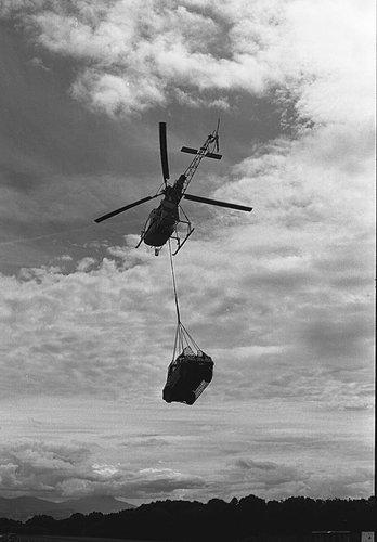 Une démonstration d'hélicoptère