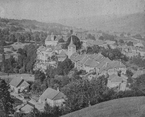 Moudon, cité médiévale, entre Mérine et Broye