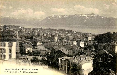 Lausanne, quartier de la gare