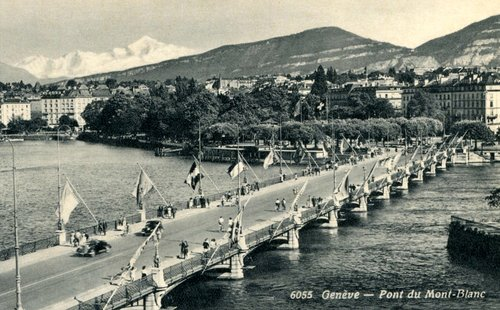 Genève, pont du Mont-Blanc