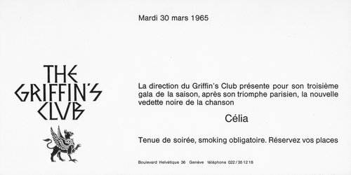 Célia - Invitation Gala at The Griffin's Club