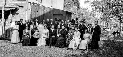 Mariage à la ferme de Bremblens 1912
