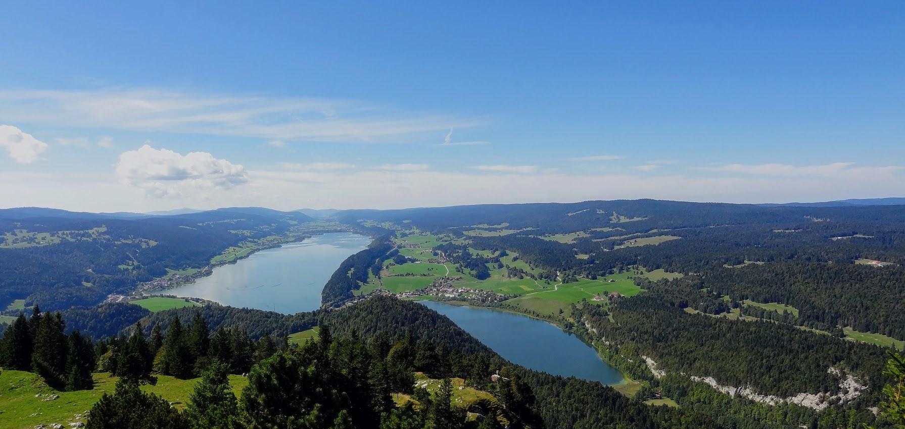 Panorama sur les lacs Brenet et Joux