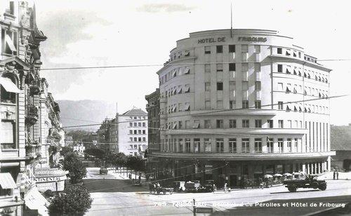 Fribourg - Boulevard de Pérolles et hôtel de Fribourg
