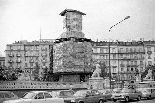 Genève, le monument Brunswick en travaux