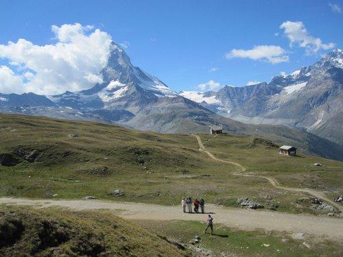 Vue sur Zermatt depuis la gare de Riffelberg