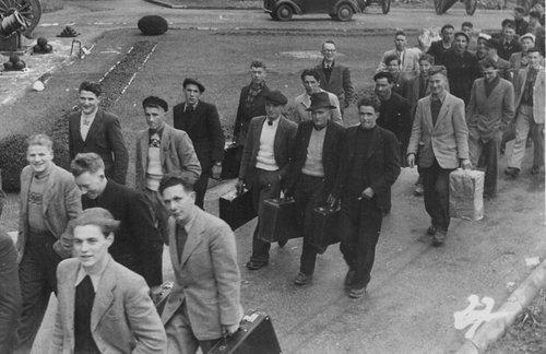 Arrivée à l'école de recrue 1947