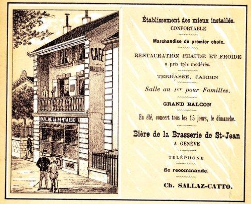 Lausanne, publicité Café de la Pontaise