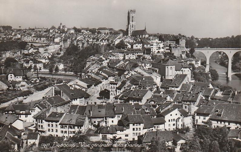 Fribourg - Vue générale et la Sarine