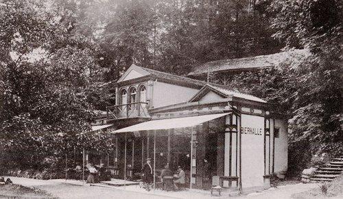 La Bierhalle du Grandhôtel Giessbach