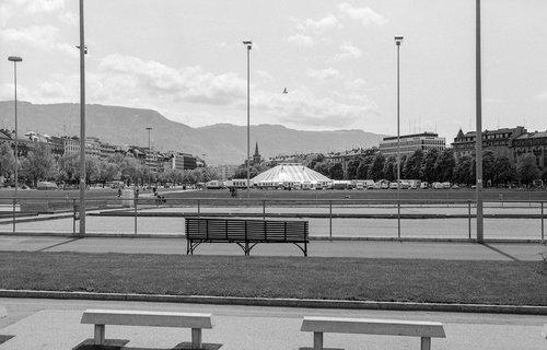 Genève, la Plaine de Plainpalais au printemps