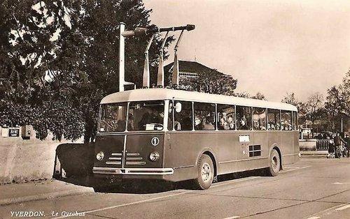 Les premiers gyrobus du monde en service à Yverdon
