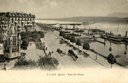 Genève, quai du Mont-Blanc