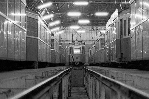 Genève, trams 12 au repos