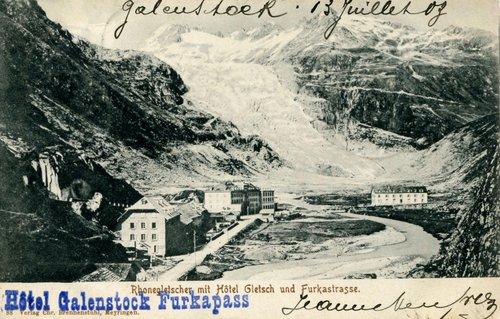 Gletsch et le glacier du Rhône