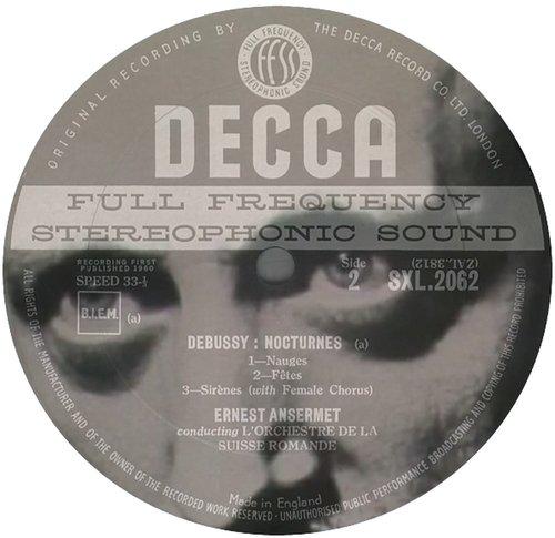 Claude DEBUSSY, Nocturnes, L 91, OSR, Ernest ANSERMET, 1957, Victoria Hall, Genève