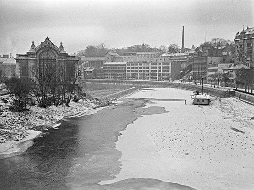 Genève, les Forces Motrices en février 1929