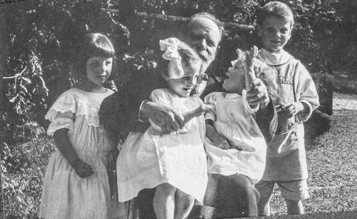 Eugène Burnand et ses petits enfants