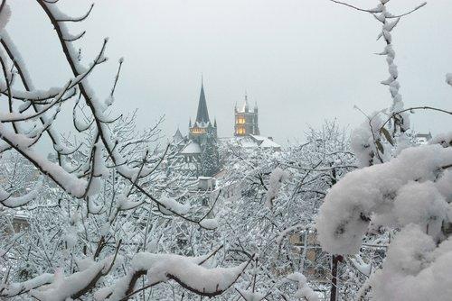 Lausanne enneigée