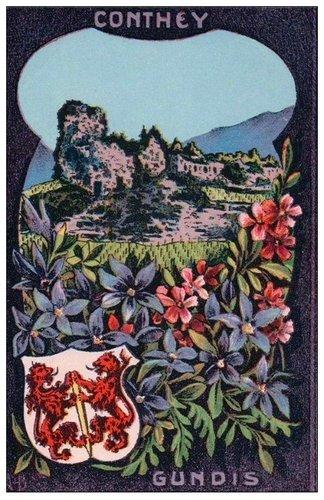Les armoiries du Valais et de ses districts, le district de Conthey