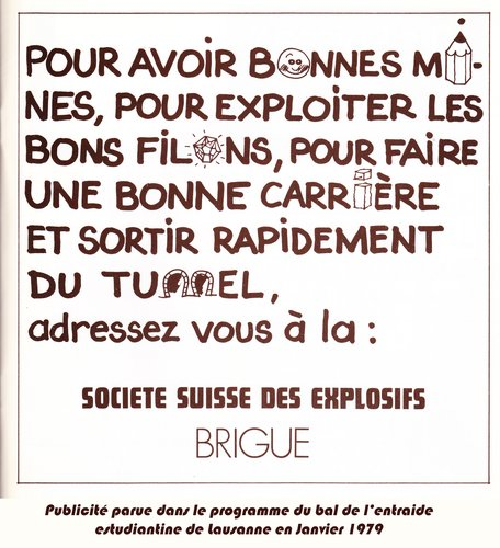 Publicité Société Suisse des Explosifs