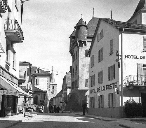 La Rue du Bourg à Sierre