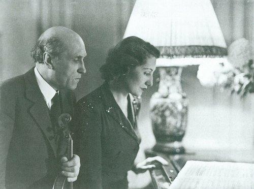 Jacqueline BLANCARD et André de RIBAUPIERRE, 1945