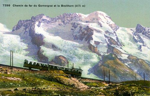 Zermatt, Gornergrat et Breithorn