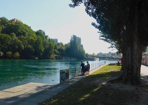 Genève, Jonction, sentier