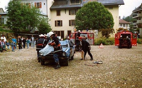 Famille André, exercice de pompier