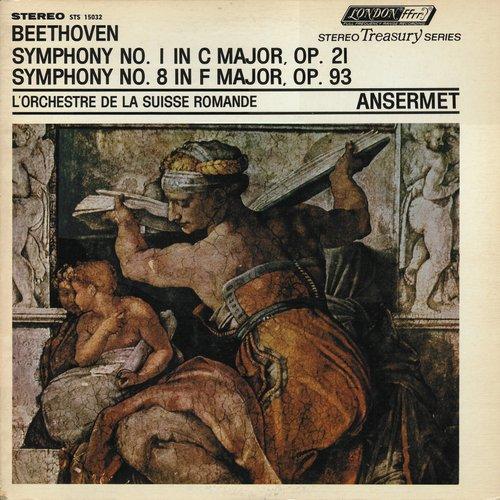 L. van BEETHOVEN, Symphonie No 8, OSR, Ernest ANSERMET, mai 1956, STÉRÉO, recto pochette disque DECCA LONDON STS 15032