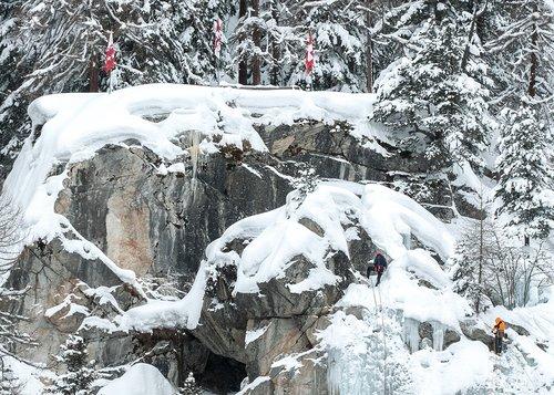 Escalade sur glace à Zinal