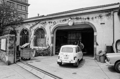 Genève, les restes de l'usine hydraulique à vapeur