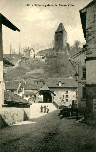 Fribourg, le pont de Berne