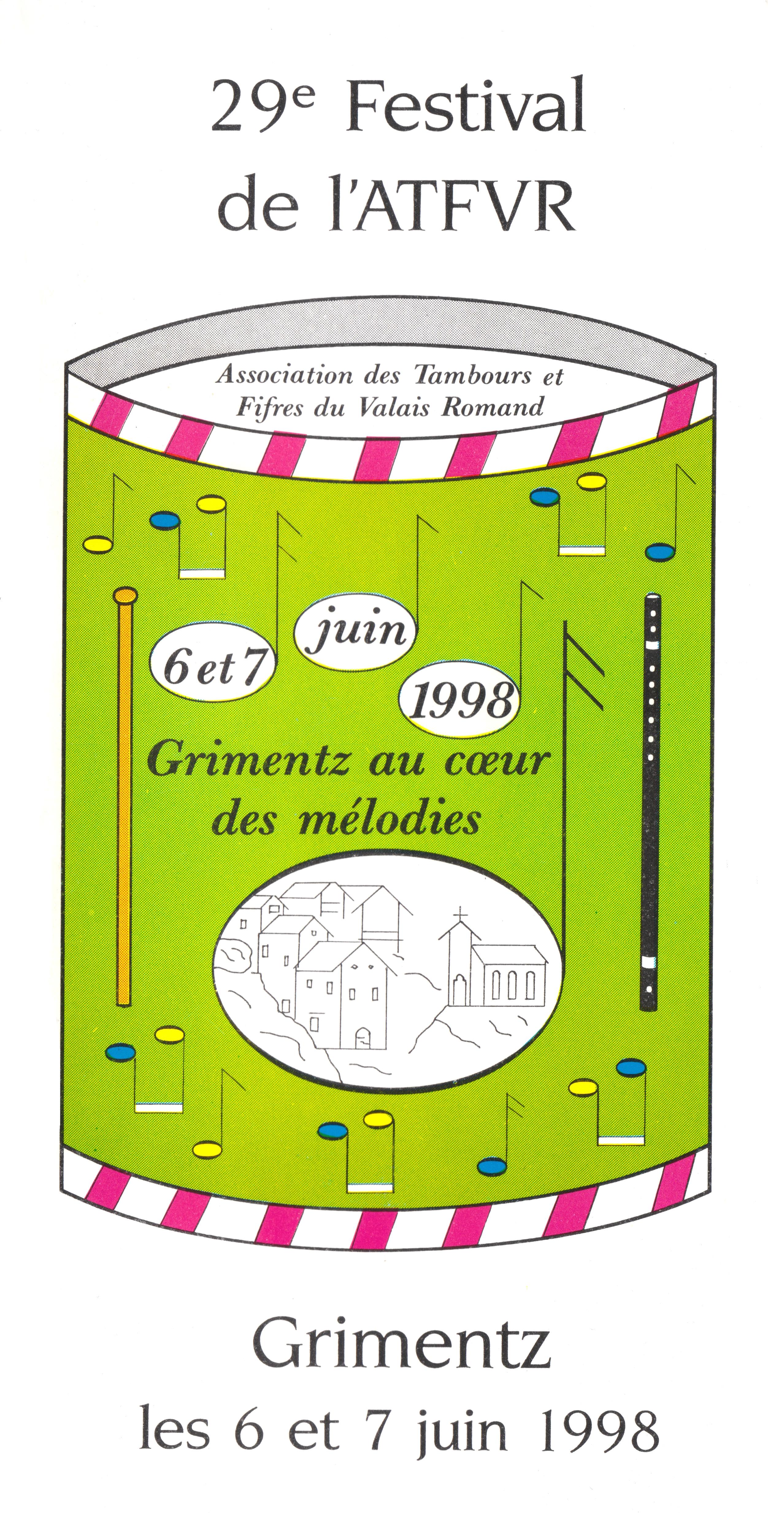 Affiche de l'ATFVR de 1998 à Grimentz