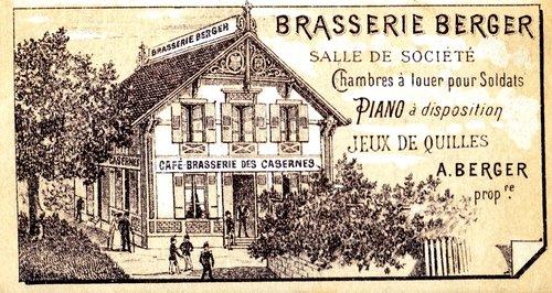 Lausanne, Pontaise, publicité Brasserie Berger